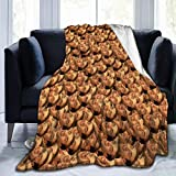 Homedecora Nicolas Cage Ultra-Soft Micro Fleece Blanket Soft and Warm Flannel Throw Blanket for Children/Adults Xmas Birthday Gift Funny Banana/Cat/Obese Baby/Mermaid. (50' X40')