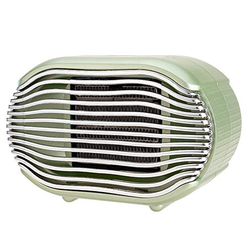 Calentador eléctrico portátil pequeño, calentador inteligente de temperatura constante, calentamiento rápido en 3 segundos, protección de seguridad, adecuado para el hogar,Verde
