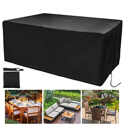 GAOANMO Garden Furniture Covers, Patio Furniture Cover Waterproof Windproof, Heavy Duty Rip Proof Oxford Fabric Patio Set Cover, for Patio Outdoor (Customizable)