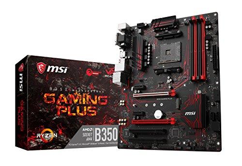 MSI B350 GAMING PLUS Scheda Madre, AMD B350, Nero