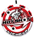 Airhead Hot Shot | 1-2 Rider Towable Tube for Boating, Red/White (AHHS-12)
