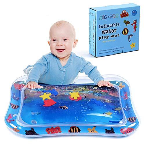 Baby Kinder aufblasbare Wassermatte,Kuaetily Wasser Spielmatte Wasserkisse Aktivitätscenter Bauchzeit BPA frei für Baby, Säuglinge & Kleinkinder 66x55cm