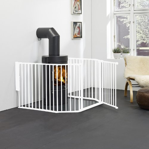 BabyDan Hearth Gate Flex Blanc