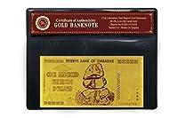 黄金の100000000000000 ジンバブエドル 100兆ジンバブエドル
