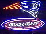 Desung New 17'x13' Bud-Light New England Sports Team Patriot Neon Sign (Multiple Sizes Available) Man Cave Signs Sports Bar Pub Beer Neon Lights Lamp Glass Neon Light CX233