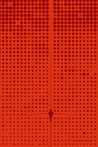 notierbuch dotted: (rot) 120 Seiten, Punkeraster, rotes Design mit dots und Seiltänzer auf der Slackline; Notizbuch / Tagebuch / Journal