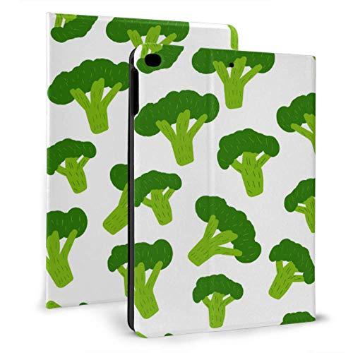 Kid Ipad Case Little Green Broccoli Pretty Health Ipad Case Cute For Ipad Mini 4/mini 5/2018 6th/2017 5th/air/air 2 With Auto Wake/sleep Magnetic Kids Cover For Ipad