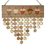 knowing Calendario de Madera,Recordatorio de cumpleaños de Madera Calendario,Calendario de Bricolaje,para la decoración del hogar, Placa recordatorio de la Fiesta de cumpleaños
