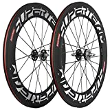 Superteam 88mm Carbon Clincher Fixed Gear Bike Wheelset 23mm Single Speed Wheel