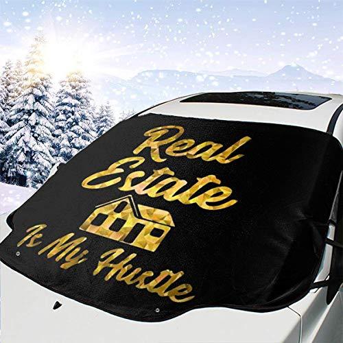 Real Estate Is My Hustle Auto-Sonnenschutz, faltbar, UV-Strahlen-Reflektor, Schwarz , Einheitsgröße