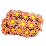 LightKids - 100 flores de margarita, artificiales, cabeza de girasol, artificial, para casa, oficina, vacaciones, decoración de escaleras, 10 cm