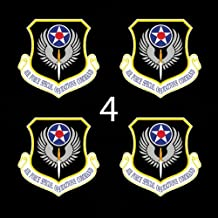 """Air Force USAF Shield Special Operations Command (AFSOC) 1 3"""" (4)Four Decal Sticker Lot"""