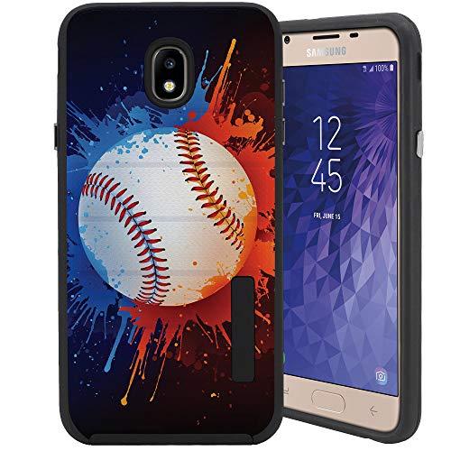 CasesOnDeck Case for [Samsung Galaxy J7 2018/ J7 Crown/ J7 Refine/ J7 Top/ J7 Star/ J7 Aero] - Drop Protection Hybrid Dual Layer Armor Protective Case Cover (Baseball)