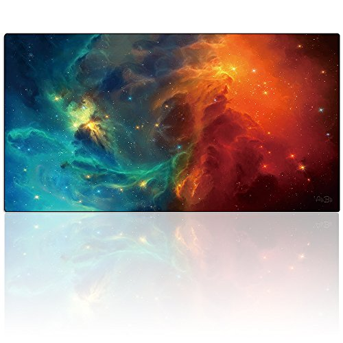 "AliBli Large Gaming Mouse Pad XXL Extended Mat Desk Pad Mousepad Long Non-Slip Rubber Mice Pads Stitched Edges 47.2""x15.7"" (120-40-034-yuntuan)"