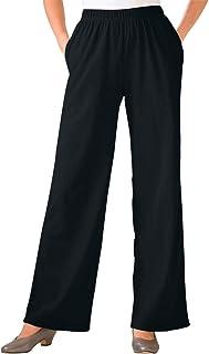 Woman Within Women's Plus Size Petite 7-Day Knit Wide Leg Pant