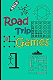 Road Trip Games: Games for kids - activitybook-Tic-Tac-Toe / Hangman / Connect Four/battleship/dots