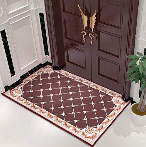 GjbCDWGLA anti-slip badmat deurmat, koffiekleur rooster wasbare badmatten, zachte microvezel douchetapijt 50 * 80 cm