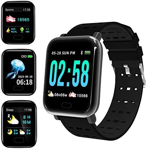 Smart Watch, Fitness Tracker with 1.3inch Full Touch Screen, Smartwatch for Men Women Sleep Monitor Step/Activity Tracker, IP67 Waterproof Fitness Watch for iOS, Android