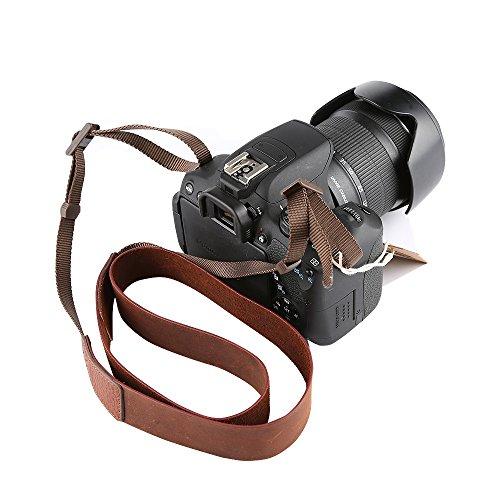CANPIS Crazy Horse - Correa de piel para cámara de fotos Nikon...