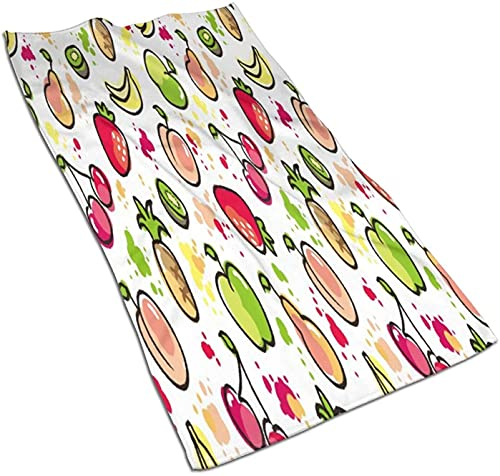 Toallas de mano, juego dibujado a mano y multiplicar iconos, patrón de impresión suave altamente absorbente toalla de baño para baño, hotel, gimnasio y spa, color 8-27.5 x 15.7 pulgadas