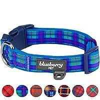 Blueberry Pet Classique Ecossais Motif Tartan Ultra-doux Neoprene Rembourré Collier chien