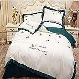 Transpirable Funda Nórdica Cama Set de edredón completa contiene la cubierta del edredón, sábanas y fundas de almohada 2 ultra suave cama de microfibra for niñas adolescentes dormitorio Tamaño: 200cmx