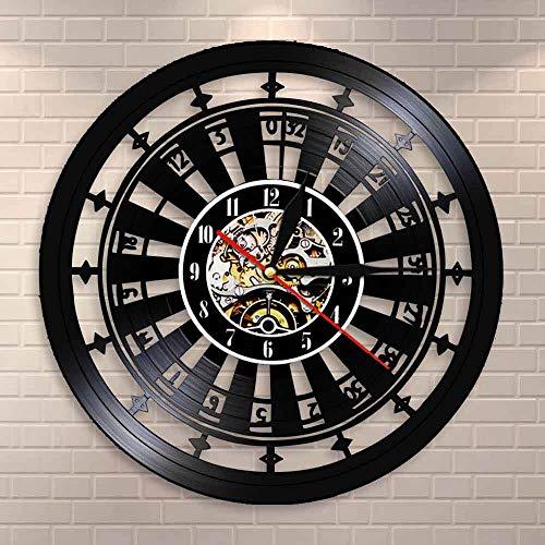 Reloj de pared de casino con señal de habitación de juego para decoración de pared de vinilo de Las Vegas 777 juego de póquer juego de cartas de ruleta reloj