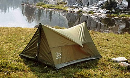 River Country Products Trekker Tent 2, Trekking Pole Tent, Ultralight Backpacking Tent – Green