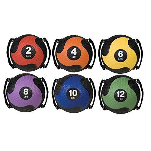 Champion Sports Rhino Ultra Grip Medicine Ball, Orange