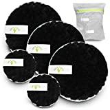 Reusable Makeup Remover Pads - Microfiber Facial Pads - 5 Pack With Laundry Bag - Washable Makeup Removing Pads for Eyes & Face - Reusable Round Cloth - Eco Friendly & Zero Waste by BE-U-TIFUL