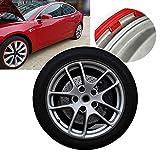 HEWXWX Protezioni per Cerchioni per Auto Compatibili per Tesla Model 3, Protezione per Pneumatici, Cerchi in Lega, Anello per Bordo Ruota da 18-20 Pollici, Set di 4, Finiture -Universale,Black-18in