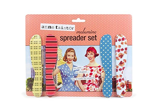 Anne Taintor Cheese Butter Spreader Set - I Came I Shopped I'm Ready For A Cocktail.