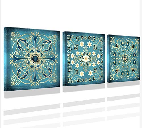 Pictures For Bathrooms Vintage Flowers Pattern Bathroom Wall Art Decor Guestroom Decorations Canvas Prints Wall Art For Bedroom art12x12 Inch 3 Pieces Iving Room Bedroom Decoration Can Be Hung Image Buy Online