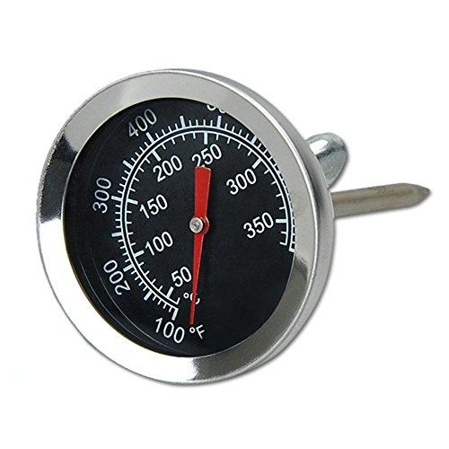 Qiorange Edelstahl Bimetall Küchen Braten Zeigerthermometer Thermometer mit Celsius und Fahrenheit 350°C