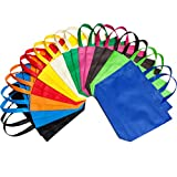 LOUHUA 22 Pcs 15 Inch ×12.6 Inch Large Party Gift Tote Bags with Handles 11 Colors for Birthday Favors,...