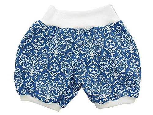 Kleine Könige Kurze Pumphose Baby Mädchen Shorts · Modell Retro Floral blau weiß · Ökotex 100 Zertifiziert · Größe 146/152
