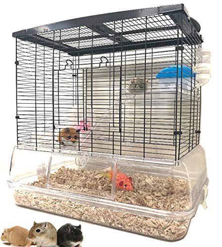 Large 3-Story Acrylic Clear Hamster Palace Cage Habitat Home for Guinea Pig Rodent Gerbil Rat Mice Mouse