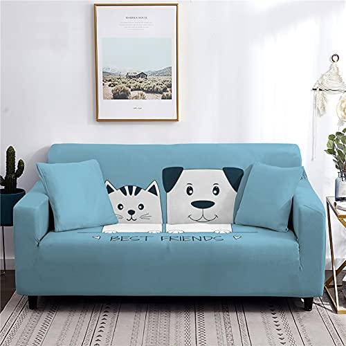 AIBABY Serie De Animales De Dibujos Animados Impresa Funda De Sofá Todo Incluido A Prueba De Polvo Funda De Sofá Lavable A Máquina Todas Las Estaciones Cojín De Sofá Universal