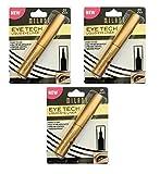 Milani Eye Tech Liquid Eyeliner, Black [01], 0.015 oz (Pack of 3)