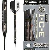 HARROWS schwarz I.C.E Darts–Soft Spitze–Barrel Gewicht 16,5g–Arctic...