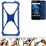 K-S-Trade® Handyhülle Für Allview X4 Soul Vision Silikon Schutz Hülle Cover Case Bumper Silikoncase TPU Softcase Schutzhülle Smartphone Stoßschutz, Blau (1x),