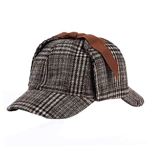 Unisex Sherlock Holmes Detective Hat Cosplay Zubehör Berets Zwei Brims Beret Deerstalker