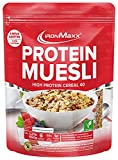 IronMaxx Protein Müsli Cookies & Chocolate / Veganes Fitness Müsli laktosefrei / Eiweiß Müsli mit Cookies & Cream Geschmack / 1 x 550 g