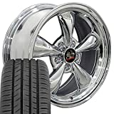 OE Wheels LLC 17 Inch Fit Ford Mustang FR01 Bullitt Style Chrome 17x8 Rims Hollander 3448 Toyo Proxes Sport All Season Tires SET