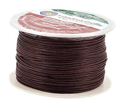 Mandala Crafts 1mm 109 Yards Jewelry Making Beading Crafting Macram? Waxed Cotton Cord Thread