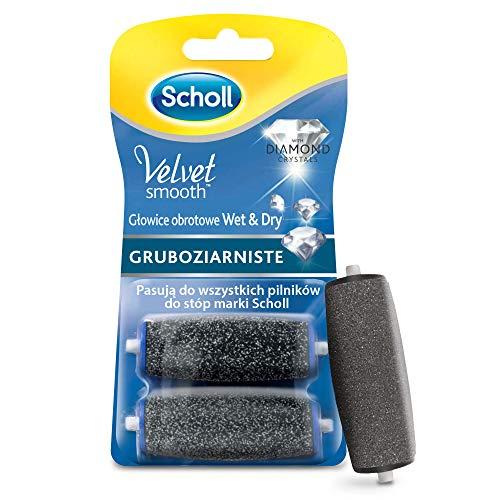 Scholl Velvet Smooth ruote di ricambio, Pedi Ricariche, Rotolo elettrico–Levacalli, Pedicure, cura dei piedi, Ultra Forte con diamante particelle, 1er Pack (1X 2rotoli)