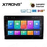 XTRONS 10.1インチAndroid 7.1Nougat 32GB ROM + 2GB ddr3Ramオクタコア回転可能面パネル2.5D曲面スクリーン車ステレオ