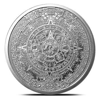1 oz .999 Aztec Calendar Stone Eagle Warrior Emperor of Tenochtitlan New