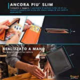 Zoom IMG-2 portafoglio uomo slim bronzi sottile