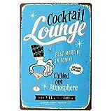 Chytaii. Placa De Arte Cocktail Lounge Decorativas Placa Vintage Cartel De Chapa Decoracion para Pared Hogar Oficina Bar Cafetería